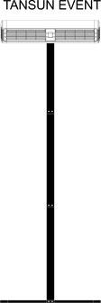 Tansun Event Infrarot-Heizung mit einem mobilen Ständer