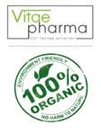 vitae pharma 100% organic logo