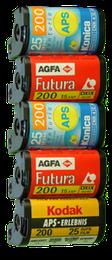 Diverse APS Filmtypen Digitalisierung