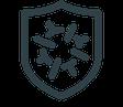 GRIMASKE® Medizinische Gesichtsmaske Typ 1 CE | EN 14683 mit HeiQ Viroblock® Technologie mit angenehmen Tragekomfort von Feld Textil GmbH - https://www.krawatten-tuecher-schals-werbetextilien.de/ - 99,9% Wirksamkeit gegen SARS CoV2*