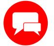 Symbol zwei Sprechblasen