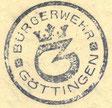 Stempel der Bürgerwehr, Mai 1919. StA Göttingen