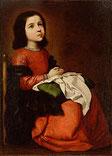 家族葬を見上げる少女