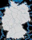 Karte zum Brutvorkommen der  Gelbkopfschafstelze (Motacilla flava flavissima) in Deutschland.