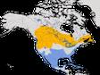 Karte zur Verbreitung der Ringschnabelmöwe (Larus delawarensis)