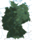 Karte zur Verbreitung der Amsel in Deutschland