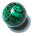 Chrysocoll Trommelstein