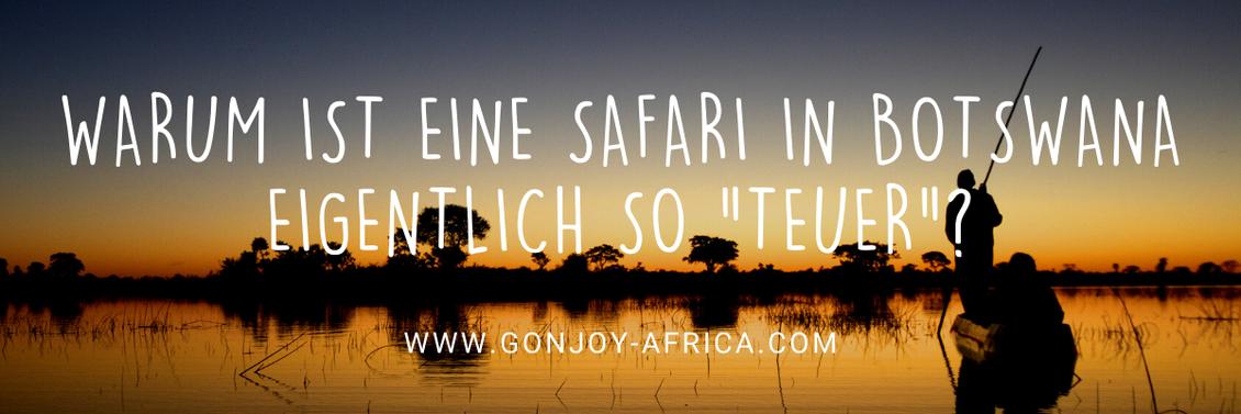 Safari in einem Mokoro in Botswana