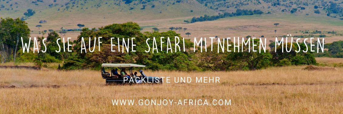 Packliste für Afrika-Safari