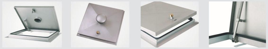 System SA 1 - Schachtabdeckung regensicher, quadratisch