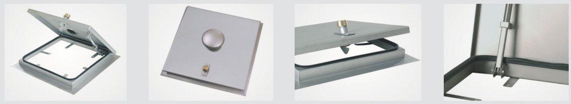 System SA 3 - Schachtabdeckung regensicher, einbruchhemmend, quadratisch