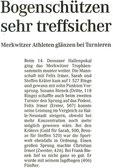Artikel - 14. Dessauer Hallenpokal 2005
