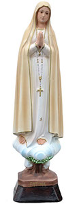 Our Lady of Fatima statue cm. 35