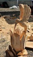 Jürg Strübi Speedcarvong Skulptur Kolibri
