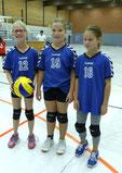 Das Dream-Team des Wettkampftages: Pia, Carla und Matilda.