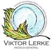 Das Bild zeigt das Logo (ein Globuli, Kügelchen, ruhend in einem Laubblatt) von der Praxis von Viktor Lerke auf Teneriffa.