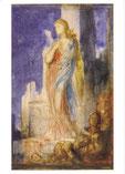 トロイアの城壁に立つヘレネ