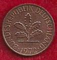 MONEDA ALEMANIA (R.F.A) KM 105 - 1 PFENNIG - 1.972 (J) COBRE (BC/VG) 0,60€.