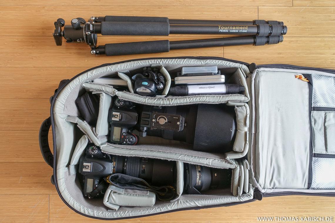 Naturfotografie Ausrüstung Fotorucksack