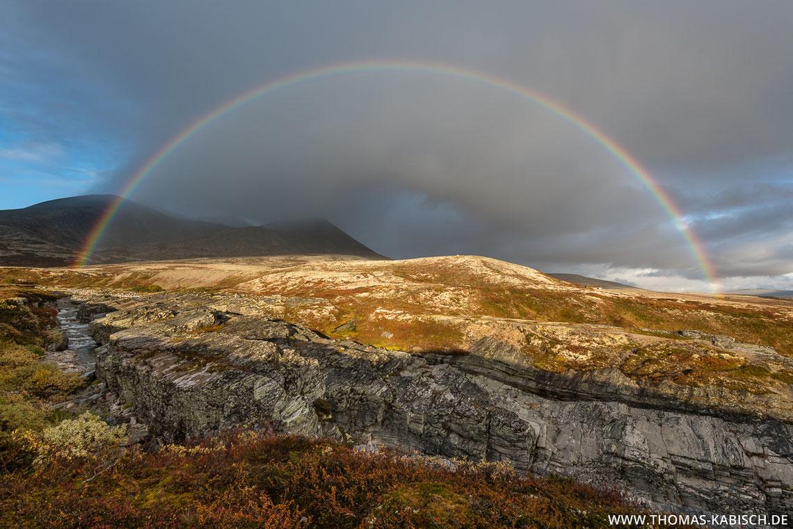 Regenbogen, Rondane, Norwegen