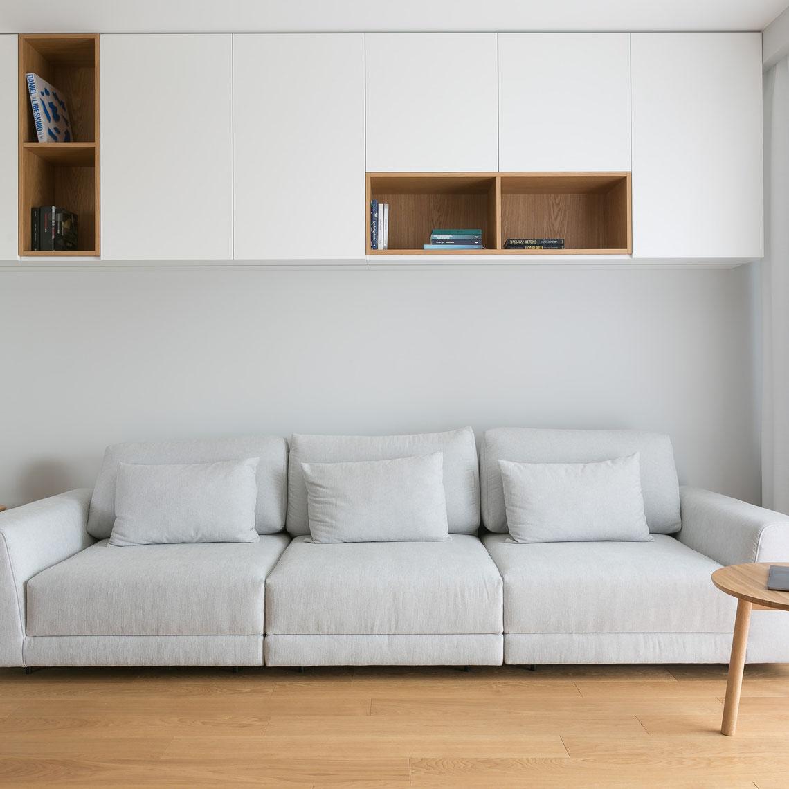 projekt salonu, sofa rozkładana