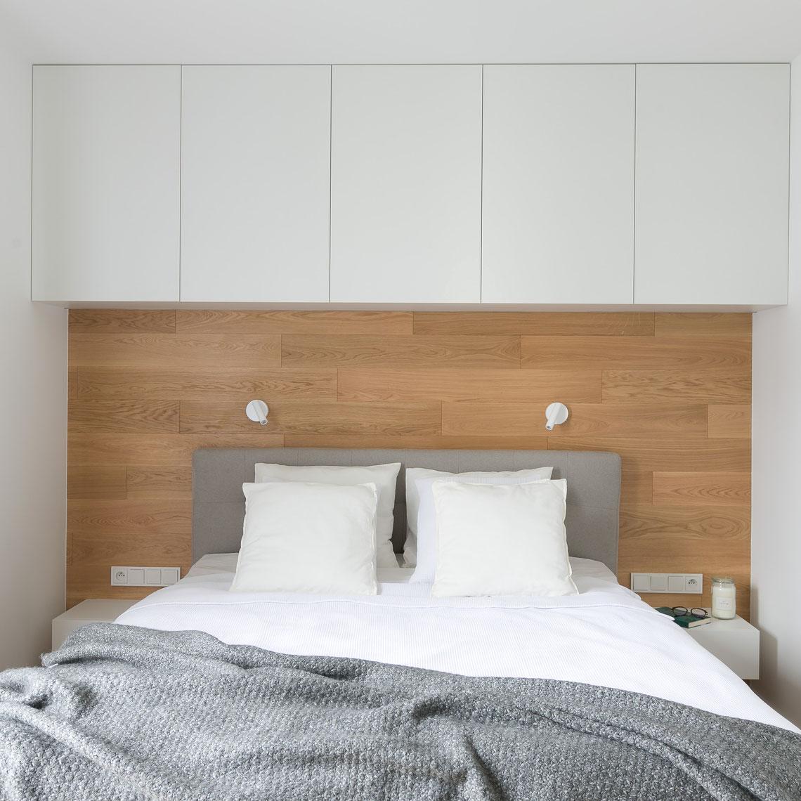 przytulna, nowoczesna sypialnia