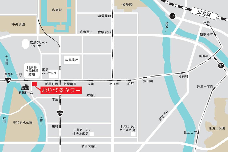 おりづるタワー地図