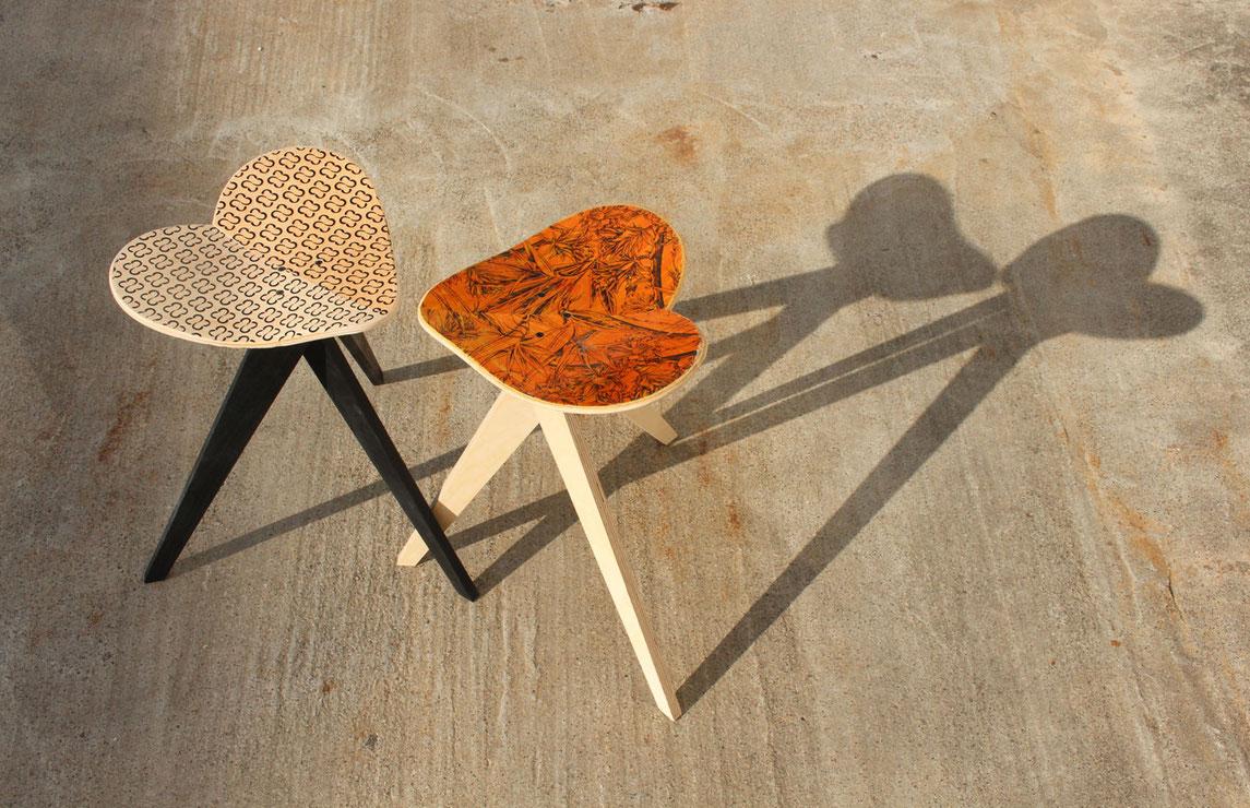 skateboard chair, skateboard stool, skateboard stuhl . Moderner und stylischer Leben. Setze dich mit einem guten Gewissen. Ökologische Arbeit aus Stuttgart. Dreibeiner