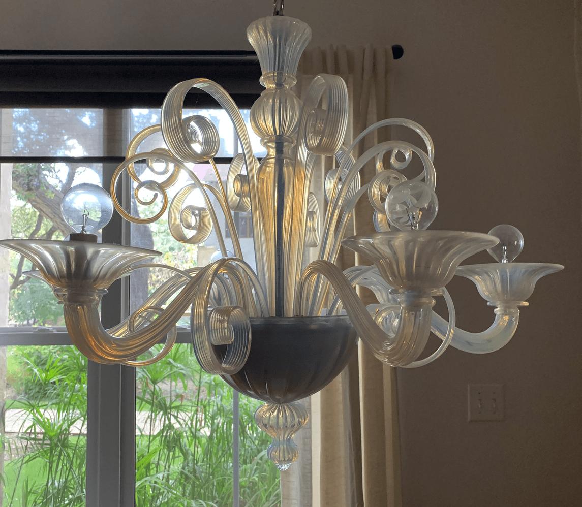 murano-opaline-chandelier-set