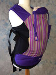 handmade full buckle baby carrier purple wrap front panel
