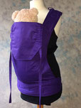 custom made baby carrier full buckle purple
