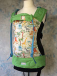 custom made baby carrier . full buckle . jungle print