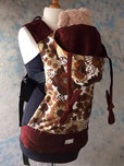 Retro fabric custom made full buckle baby carrier