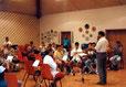1. Musikprobe im Vereinsheim.