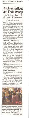57. Fuchstalpokalschießen in Ellighofen