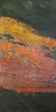 Là-bas, peinture d'Annie Baratz artiste peintre plasticienne