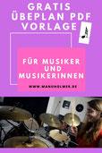 Musik Übeplan PDF Vorlage gratis