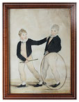 Early 19th century watercolour of two brothers