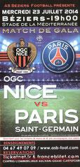 Affichette  Nice-PSG  2014-15