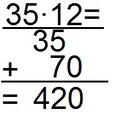 Lösung des Beispiels zur schriftlichen Multiplikation