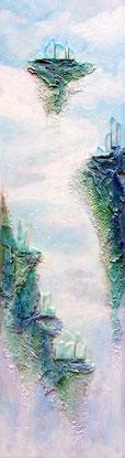 """""""Célestia"""" - Recycl'Art sur bois (250€ encadré) ©B.Dupuis"""