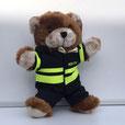 120 x 120 politie uniform knuffelbeertje troostbeer