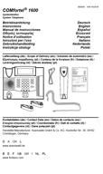 Titelbild Betriebsanleitung: Auerswald COMfortel 1600