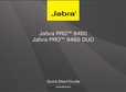 Titelbild Bedienungsanleitung-kurz: Jabra PRO 9460 Duo