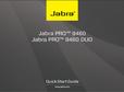 Titelbild Bedienungsanleitung-kurz: Jabra PRO™ 9460 Mono