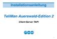 Titelbild Installationshandbuch: Client-Server TAPI Auerswald COMfort 2000