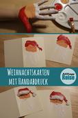 Wir zeigen euch, wie ihr mit dem Handabdruck eurer Kinder schöne Weihnachtskarten basteln könnt.