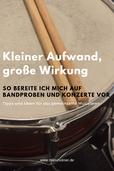 Bandprobe und Konzert Vorbereitung