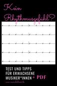 Rhythmusgefühl Test und Tipps Musik lernen