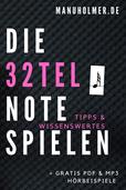 32tel Note spielen Musik
